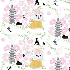 "Maltese - Japanese Garden - 2"" pup"