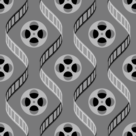 05280787 : cine sine : on the silver screen fabric by sef on Spoonflower - custom fabric