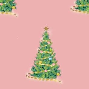 Xmas pink tree
