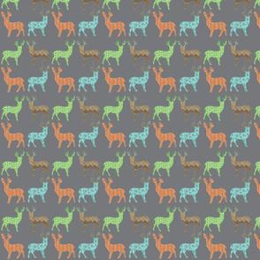 Meadow Deer in Multi with Gray