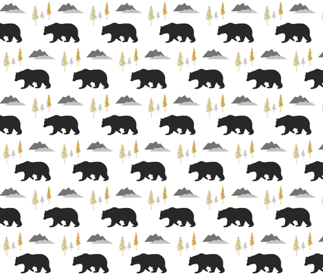 bears_trees_mountians fabric by sproutz on Spoonflower - custom fabric