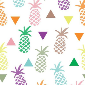 Pineapples & Triangles - Rainbow