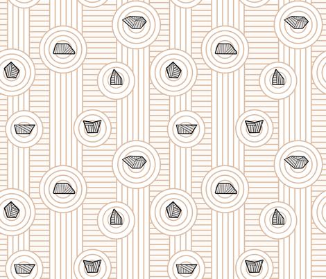 Zen Rock Garden  fabric by dearchickie on Spoonflower - custom fabric