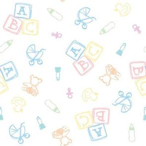 Baby Symbols Sketch - White Cloud