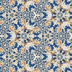 Medieval Kaleidoscope - Blue and Gold