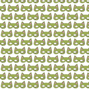 Cat Mask Green