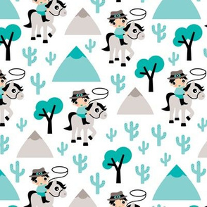 Cool little cowboy western theme with cactus and mountains boys design