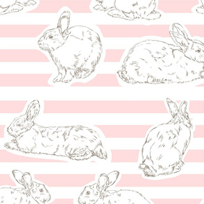 Pink Bunny Pattern