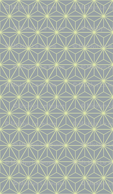 Radiant Triangles Bamboo Coordinate grey and lime