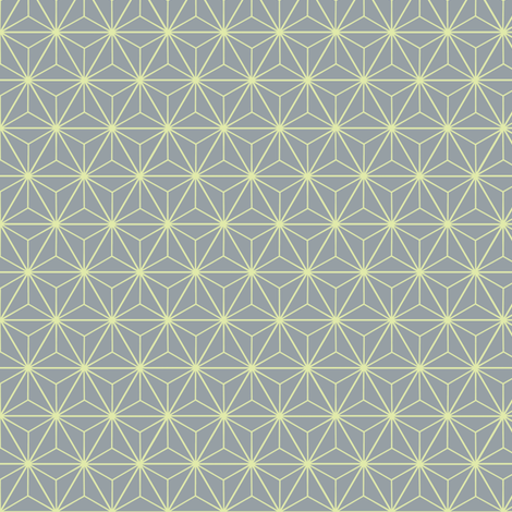 Radiant Triangles Bamboo Coordinate grey and lime fabric by micklyn on Spoonflower - custom fabric