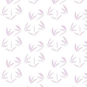Mauve Orchid Oriental Tussocks on White