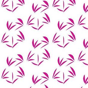 Shocking Pink Oriental Tussocks on White