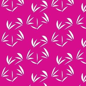White Oriental Tussocks on Shocking Pink