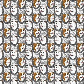 Bulldog horseshoe portraits - small