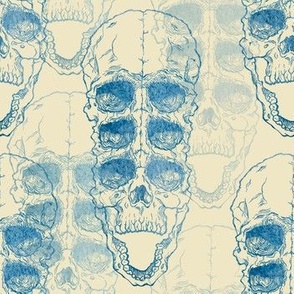 pattern with skull