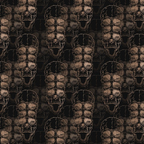 pattern with skull on grunge background