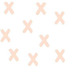 Pink Blush X's on White