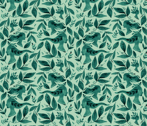 Forest Ladies fabric by abigailhalpin on Spoonflower - custom fabric