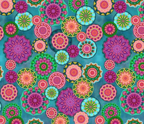 japanese_flower_garden fabric by elarnia on Spoonflower - custom fabric