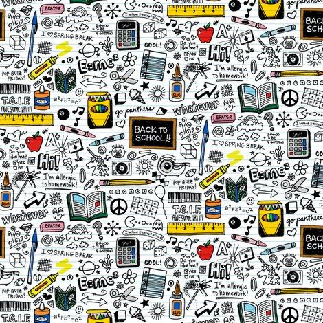 Doodled School Supplies Mini Doodles Graffiti Children Math