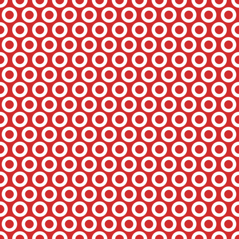 Botheads-Ring-Red-White fabric by eefypeefy on Spoonflower - custom fabric