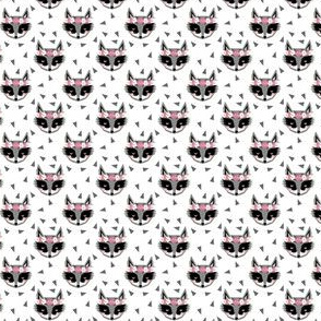 raccoon pink girly flowers spring white