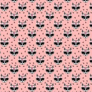 raccoon pink spring flower crowns cute animals