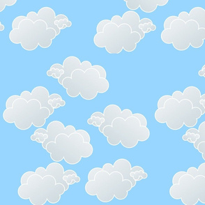 Clouds - Light Blue