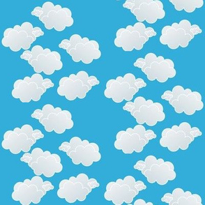 Clouds in Teal