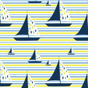 Summer Nautical Stripes & Sailboat