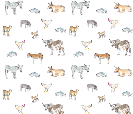 Transkei Animals fabric by fromtheartstudio on Spoonflower - custom fabric