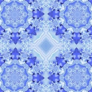 Beautiful Blue Snowflake