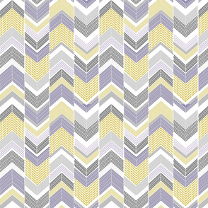 Navy Blue Silver Chevron