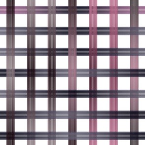 Pink Purple Black Ombre Gingham