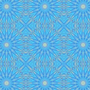 Blue Gold Kaleidoscope
