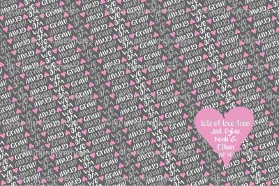 personalised name design - minky love blanket