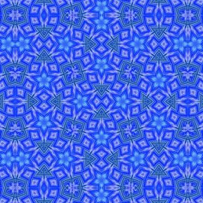 Blue Flower Mosaic