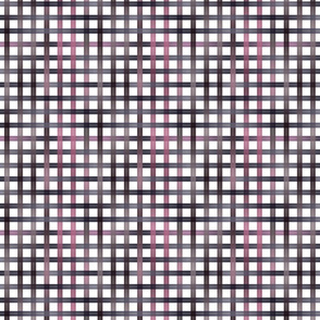 Small Pink Purple Black Ombre gingham