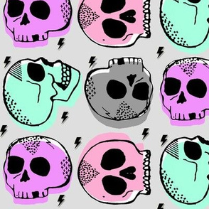 Tossed Skulls in Candy