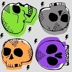 Tossed Skulls in Halloween
