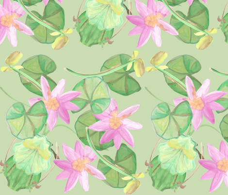 Lilypad3 fabric by elaine_marie on Spoonflower - custom fabric