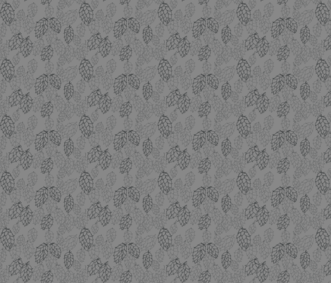 Grey Hop Haze fabric by a_bushel_of_hops on Spoonflower - custom fabric