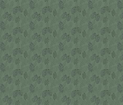 Dark Green Hop Haze fabric by a_bushel_of_hops on Spoonflower - custom fabric