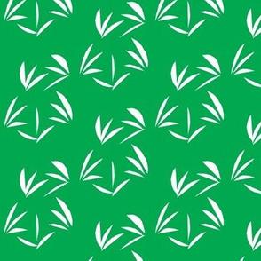White Oriental Tussocks on Emerald Green