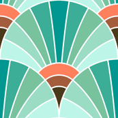 art deco fan scale : surf spray