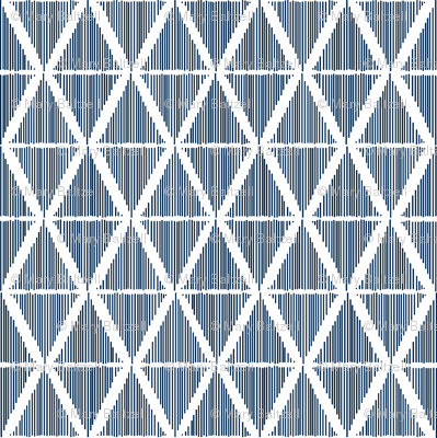 Diamond Ikat Blue-White