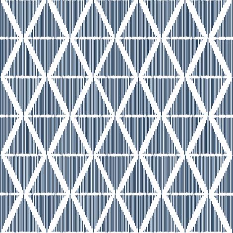 Diamond Ikat Blue-White fabric by fat_bird_designs on Spoonflower - custom fabric