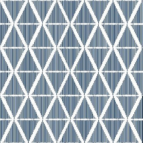 Diamond Ikat Blue-White