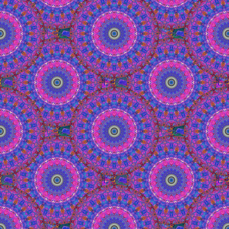 Blooming Asters Kaleidescope fabric by anniedeb on Spoonflower - custom fabric