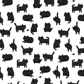 Black cats pattern MEDIUM scale